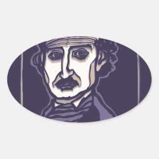 Edgar Allan Poe por FacePrints Pegatina Ovalada