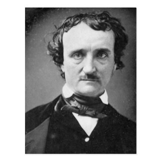 Edgar Allan Poe ~ Portrait 1849 Postcard