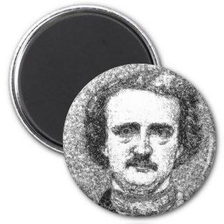 Edgar Allan Poe Portrait 2 Inch Round Magnet