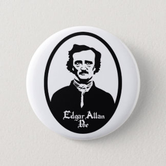 Edgar Allan Poe Portrait Button
