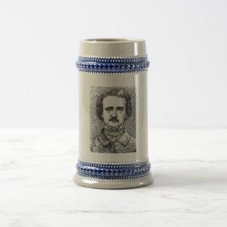 Edgar Allan Poe Portrait 18 Oz Beer Stein