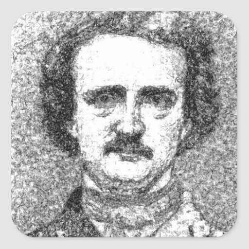Edgar Allan Poe Portrait Square Sticker