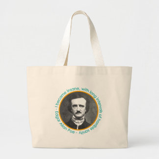 Edgar Allan Poe Portrait With Quote Large Book Bag