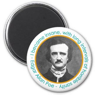 Edgar Allan Poe Portrait With Quote Magnet