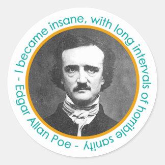 Edgar Allan Poe Portrait With Quote Stickers