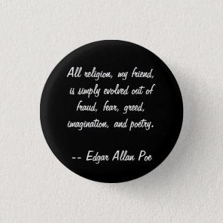 Edgar Allan Poe Quote Button