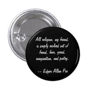 Edgar Allan Poe Quote 1 Inch Round Button