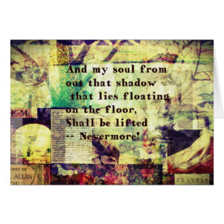 Edgar Allan Poe Quote Nevermore Card