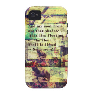 Edgar Allan Poe Quote Nevermore Vibe iPhone 4 Case