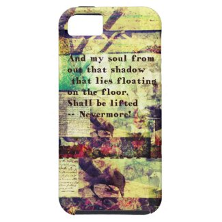 Edgar Allan Poe Quote Nevermore iPhone 5 Cover