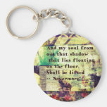 Edgar Allan Poe Quote Nevermore Key Chains