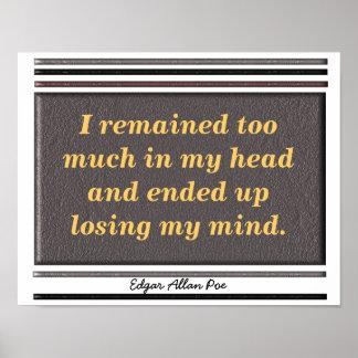 Edgar Allan Poe - Quote Poster