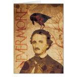 Edgar Allan Poe Quoth el cuervo nunca más Tarjeta De Felicitación