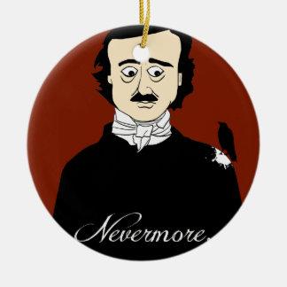 Edgar Allan Poe Raven Humor Ceramic Ornament