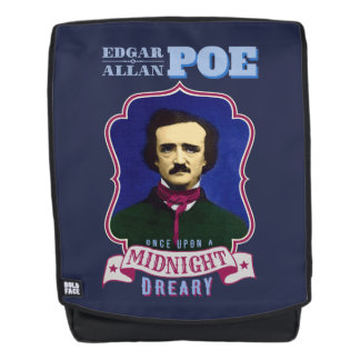 Edgar Allan Poe Raven Quote and Portrait Backpack