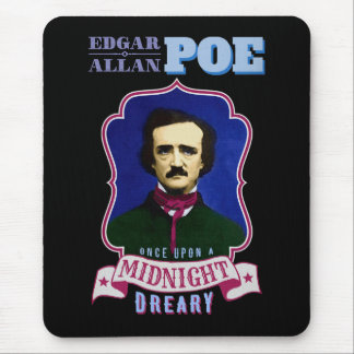 Edgar Allan Poe Raven Quote and Portrait Mouse Pad