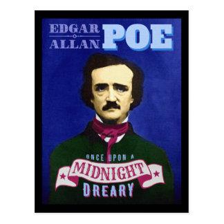 Edgar Allan Poe Raven Quote and Portrait Postcard