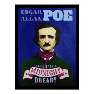 Edgar Allan Poe Raven Quote and Portrait Poster