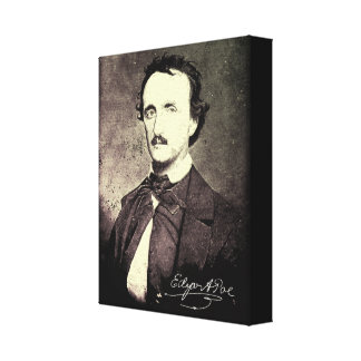 Edgar Allan Poe *Restored & Refinished* Canvas Print
