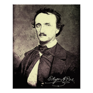 Edgar Allan Poe *Restored & Refinished* Poster