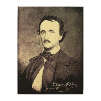Edgar Allan Poe *Restored & Refinished* Wood Print