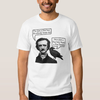Edgar Allan Poe Riffs On Queen's Bohemian Rhapsody T-shirts