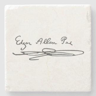 Edgar Allan Poe Signature Stone Coaster