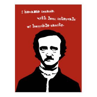 Edgar Allan Poe Silhouette Postcard