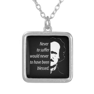Edgar Allan Poe Silver Plated Necklace