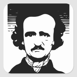 Edgar Allan Poe Square Sticker