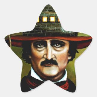 Edgar Allan Poe Star Sticker