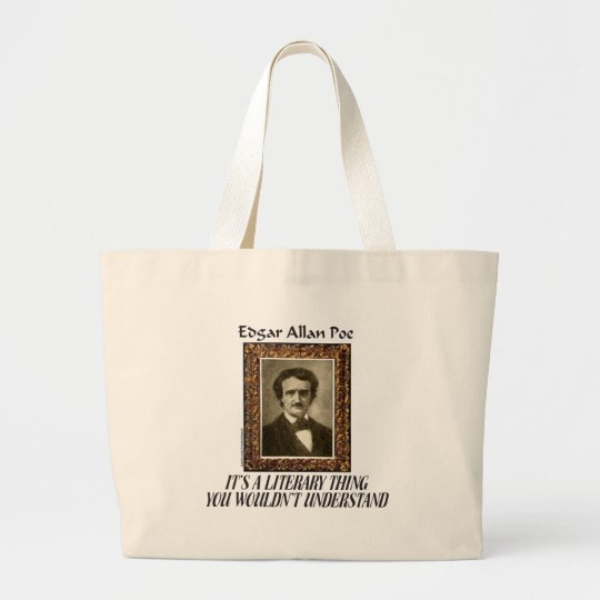 EDGAR ALLAN POE T-SHIRTS AND GIFTS LARGE TOTE BAG