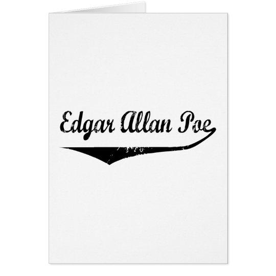 Edgar Allan Poe Tarjeta De Felicitación
