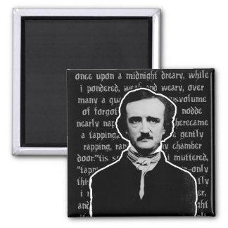 Edgar Allan Poe   The Raven 2 Inch Square Magnet