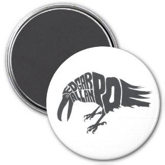 Edgar Allan Poe - The Raven 3 Inch Round Magnet