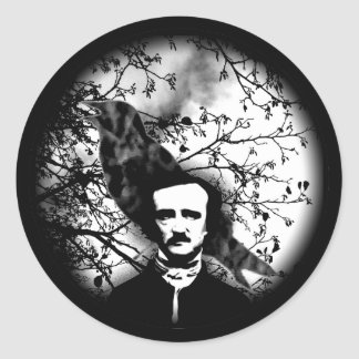 Edgar Allan Poe 'The Raven' Classic Round Sticker