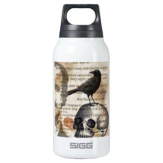 Edgar Allan Poe The Raven Skull and BIrd Insulated Water Bottle