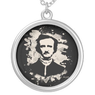 Edgar Allan Poe tributes Silver Plated Necklace