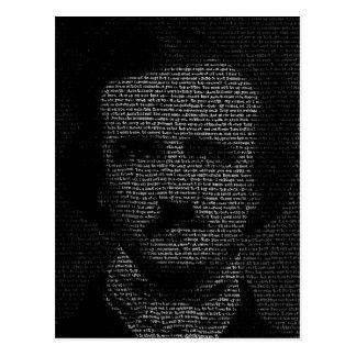 Edgar Allan Poe (TypeFace) Postcard