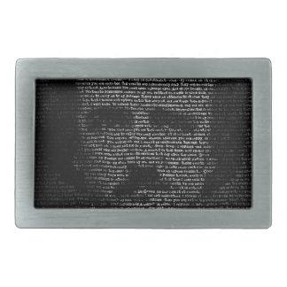 Edgar Allan Poe (TypeFace) Rectangular Belt Buckle