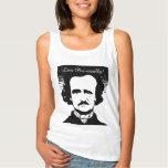 """Edgar Allan Poe """"vive poético"""" las camisetas sin Playera De Tirantes Básica"""