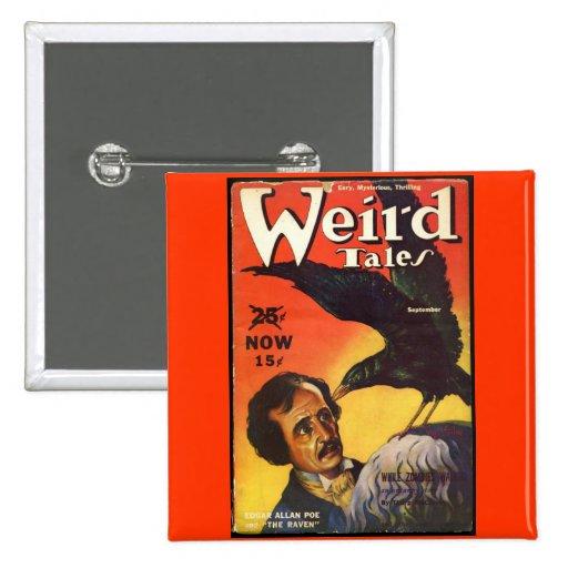 Edgar Allan Poe Weird Tales Cover 2 Inch Square Button