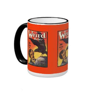 Edgar Allan Poe Weird Tales Cover Ringer Coffee Mug
