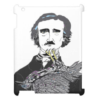 Edgar Allan Poe with a Raven Clinging to his Chin Case For The iPad