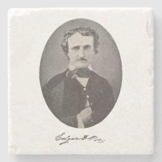 Edgar Allan Poe with Signature Stone Beverage Coaster