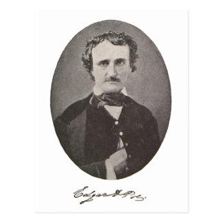 Edgar Allan Poe with Signature Postcard