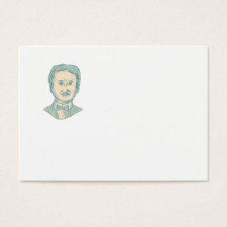 Edgar Allan Poe Writer Drawing Business Card