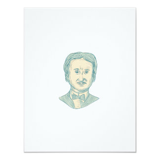 Edgar Allan Poe Writer Drawing Card