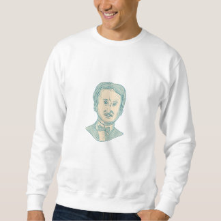 Edgar Allan Poe Writer Drawing Sweatshirt