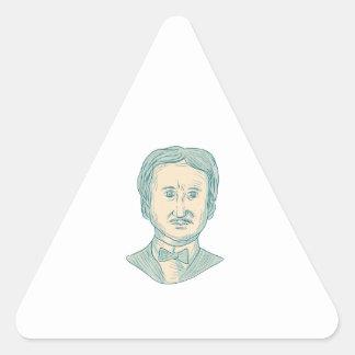 Edgar Allan Poe Writer Drawing Triangle Sticker